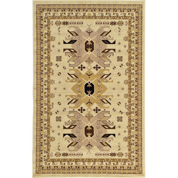 Valley Ivory/Beige Area Rug by World Menagerie