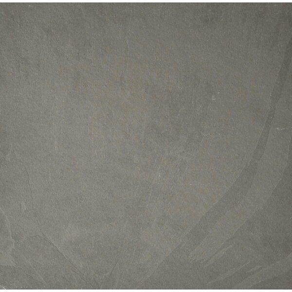 Pewter 12 x 12 Slate Field Tile in Gray