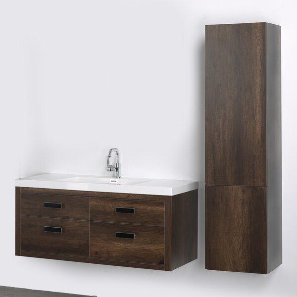 47 Wall Mounted Single Bathroom Vanity Set by Streamline Bath