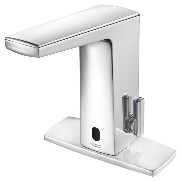 Paradigm Centerset Single Hole Bathroom Faucet with Above-Deck Mixing and SmarTherm Safety Shut-Off - Base Model - 0.35 GPM