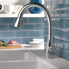 Kitchen Faucet Single Handle Docking Seal Chrome photo