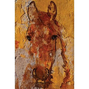Yellow Horse Graphic Art on Wrapped Canvas by East Urban Home