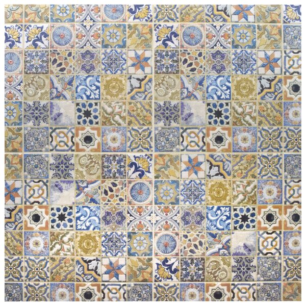 Obila 12.5 x 12.5 Ceramic Tile in Blue/Brown by EliteTile