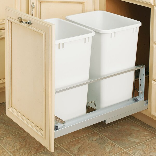 Plastic 8.75 Gallon Pull Out Trash Can (Set of 2) by Rev-A-Shelf