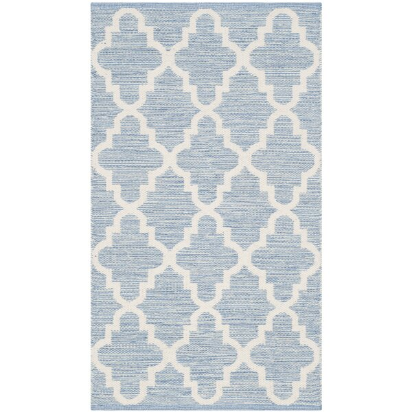 Valley Hand-Woven Light Blue/Ivory Area Rug by Alcott Hill