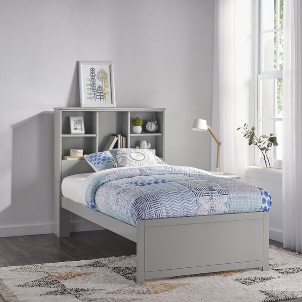 Body Caspian Twin Panel Bed with Bookcase by Harriet Bee