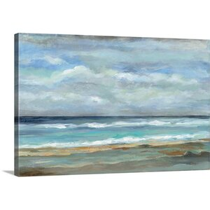 'Seashore' Painting Print on Canvas by Breakwater Bay