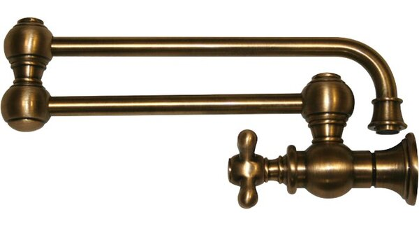Vintage III Single Handle Wall Mount Pot Filler with Cross Handle by Whitehaus Collection