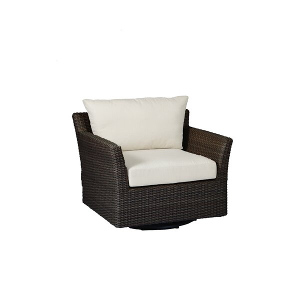 Club Woven Glider Chair with Cushions by Summer Classics