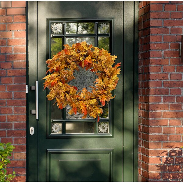 20 Autumn Oak Leaf and Acorn Wreath by Darby Home Co