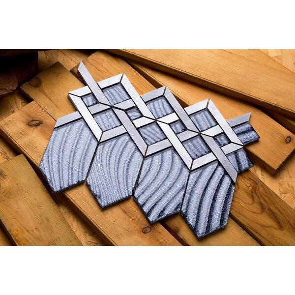 Hexa 10.24 x 12.72 Mixed Material Mosaic Tile in Gray/Silver by Mirrella