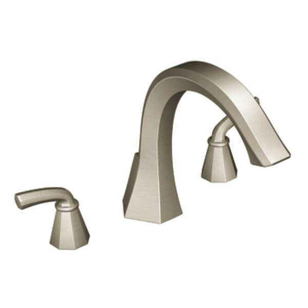 Felicity Two Handle Deck Mount Roman Tub Faucet Trim by Moen
