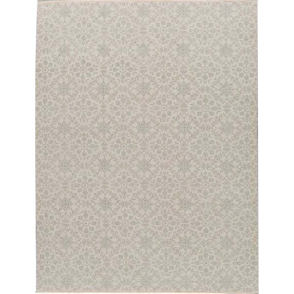 Hand-Knotted Wool Beige Area Rug