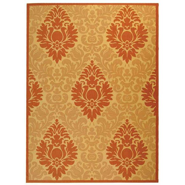 Short Natural/Terracottal Outdoor Area Rug by Winston Porter