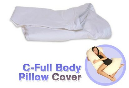 C-Shaped Full Body Pillow Protector by Deluxe Comfort
