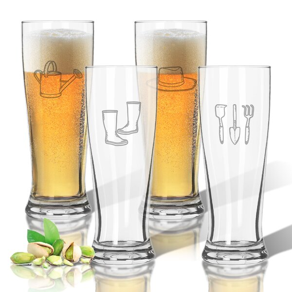 Tritan 14 oz. Pilsner Glass Set (Set of 4) by Carved Solutions