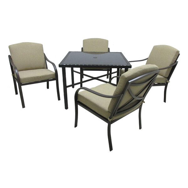 Verdugo 5 Piece Dining Set with Cushions by Darby Home Co
