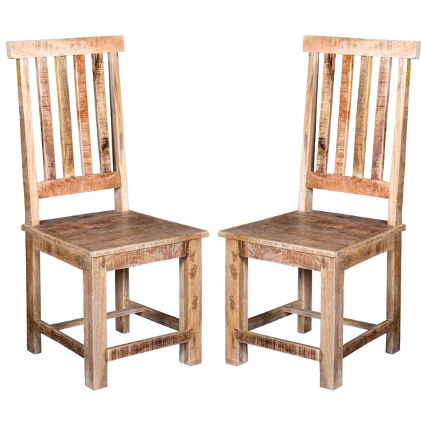 Johson Solid Wood Dining Chair (Set of 2) by Bloomsbury Market Bloomsbury Market