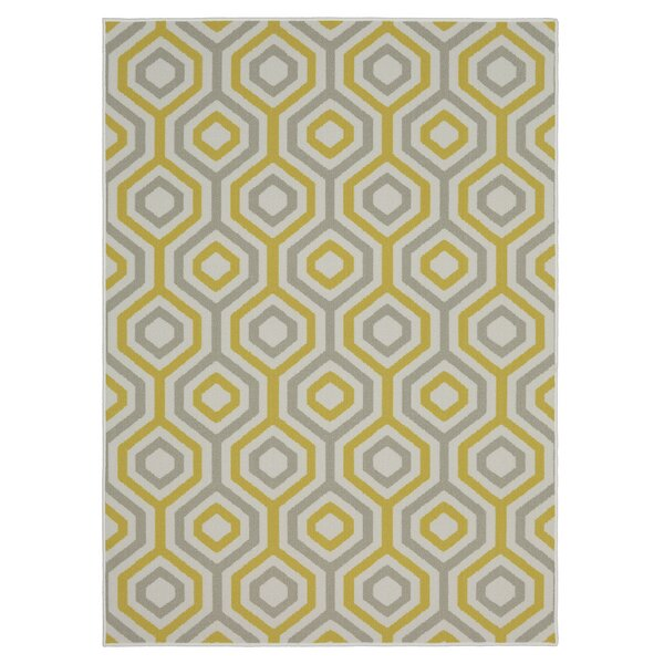 Garland Geo Fret Area Rug by Langley Street