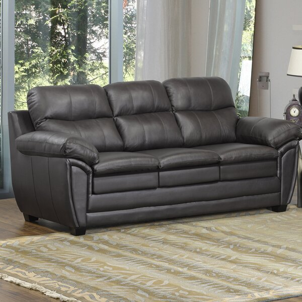 Coyle Leather Sofa By Orren Ellis