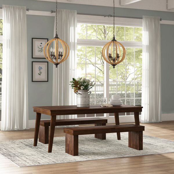 Stodola 3 Piece Solid Wood Dining Set by Gracie Oaks
