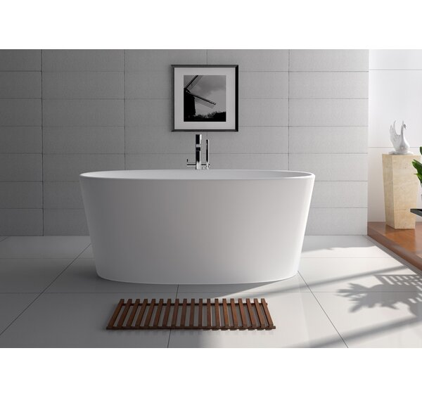 62 x 27.5 Freestanding Soaking Bathtub by Legion Furniture