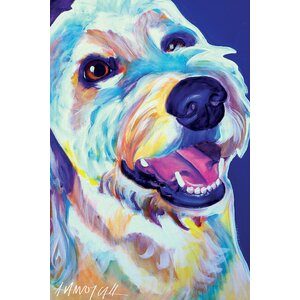 'Penny the Goldendoodle' Painting Print on Canvas by East Urban Home