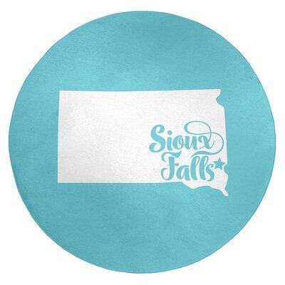 Sioux Falls South Dakota Poly Chenille Rug East Urban Home Rug Size: Round 5 -  93E144F349594A2CBD19C575C608A654