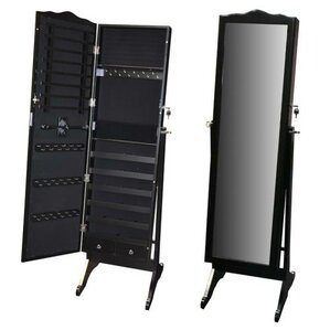 Whitman Free Standing Wood Jewelry Armoire with Mirror by Darby Home Co