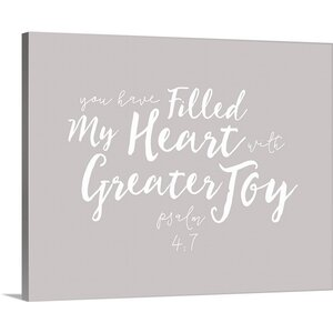 'Psalm 4:7' Textual Art on Wrapped Canvas by Great Big Canvas