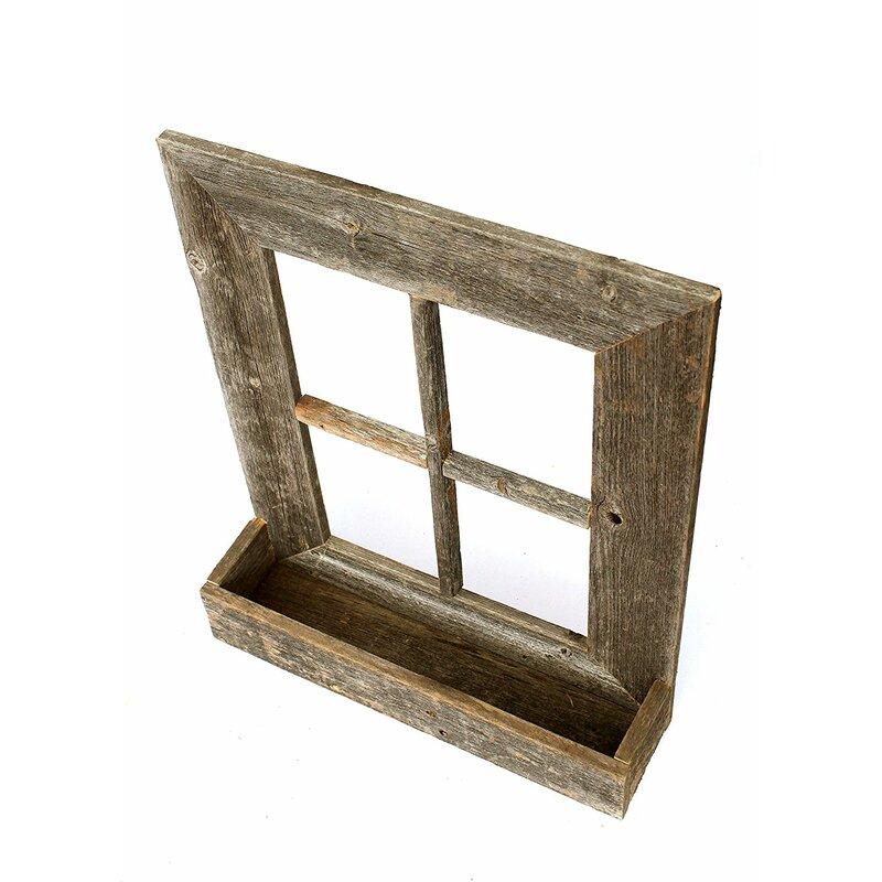 BarnwoodUSA Rustic Window Planter Frame Wall Décor   Wayfair