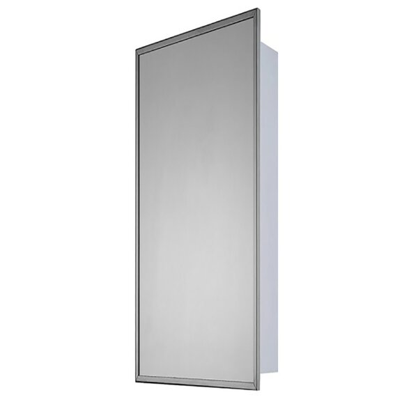 Parthenia Stainless Steel Mirror Door 36 x 16 Surface Mount Framed Medicine Cabinet with 3 Adjustable Shelves