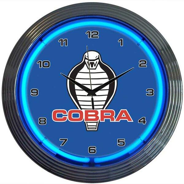 15 Ford Cobra Wall Clock by Neonetics