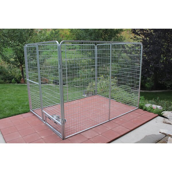 Basic Galvanized Steel Yard Kennel by K9 Kennel