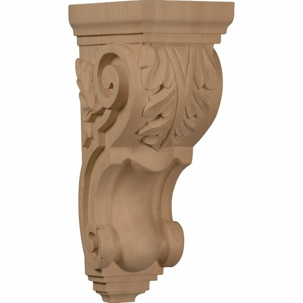 Acanthus 14H x 5W x 7D Large Traditional Corbel in Hard Maple by Ekena Millwork
