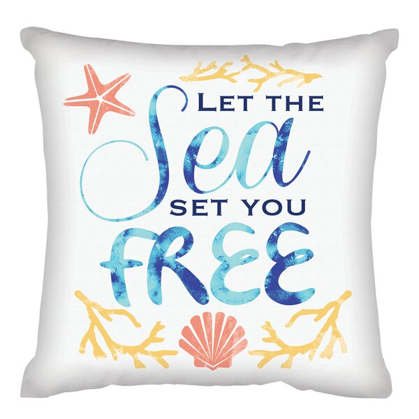 Katia Let the Sea Set You Free Throw Pillow by Highland Dunes