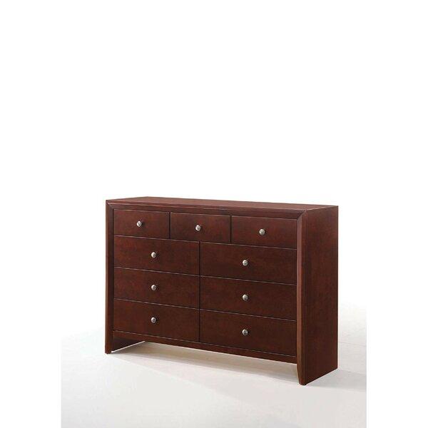Damian Wooden 9 Drawer Double Dresser by Alcott Hill