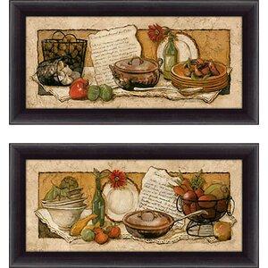 'Passion for Cooking I' 2 Piece Framed Print Set by Fleur De Lis Living