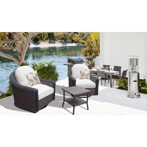 Gaia 3 Piece Conversation Set With Cushions By Bayou Breeze by Bayou Breeze Fresh