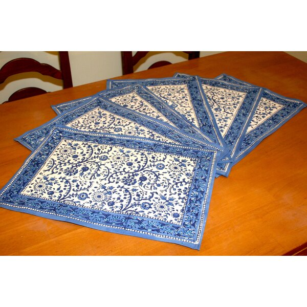 Rajasthan Floral Placemat (Set of 6) by HOMESTEAD J.E.GARMIRIAN AND SON INC