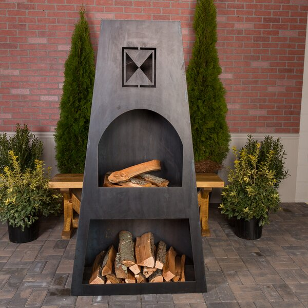 Fire Knight Steel Wood Burning Outdoor fireplace by Ember Haus