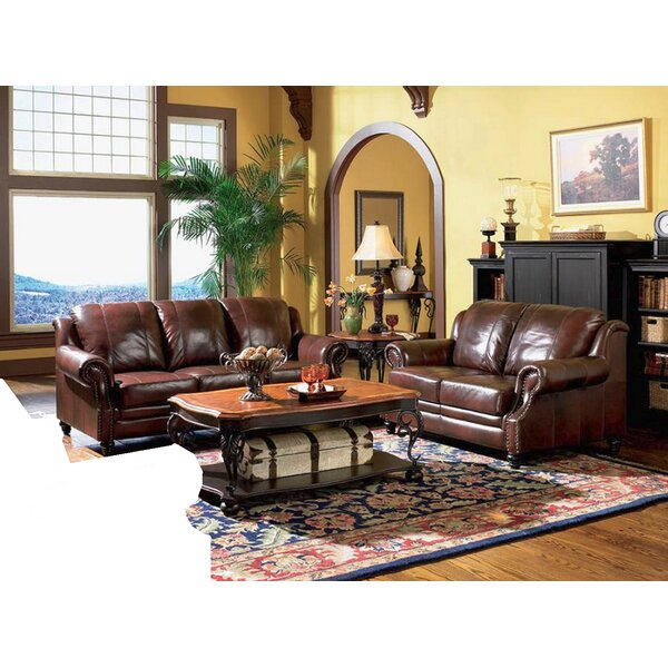 Hensley 2 Piece Leather Living Room Set by Loon Peak