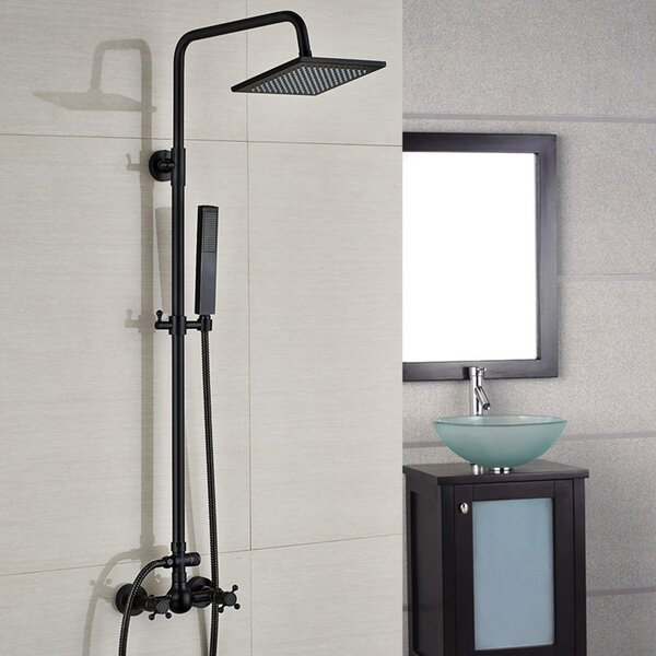 Ebikon Pressure-Balanced Complete Shower System with Rough-in Valve by FontanaShowers FontanaShowers