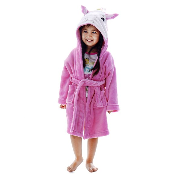 Giambrone Kid Animal Adventures Plush Bathrobe by Zoomie Kids