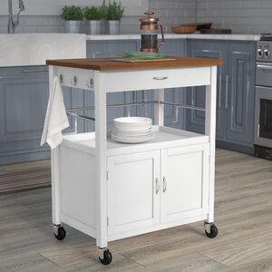 Round Kitchen Cart Butcher Block : Kitchen Islands & Carts You'll Love Wayfair.ca