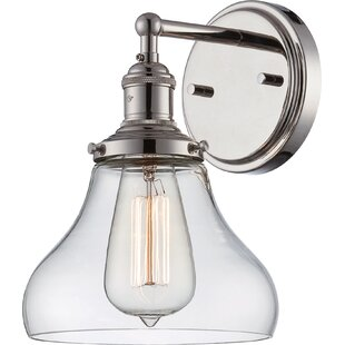 Read Reviews Gwendoline 1-Light Bath Sconce By Beachcrest Home