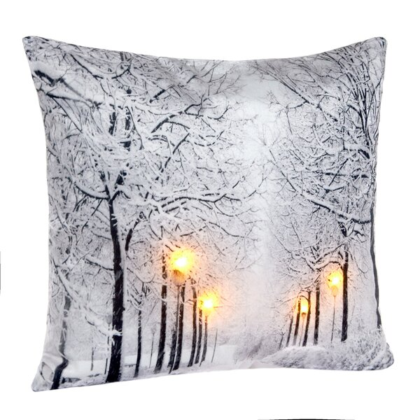 Celso LED Holiday Light Up Throw Pillow by Red Barrel Studio