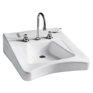 Best Reviews Wheelchair Vitreous China 20 Wall Mount Bathroom Sink with Overflow By Mansfield Plumbing Products