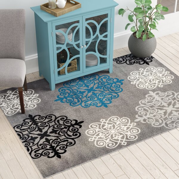 Lebouef Gray Area Rug by Winston Porter
