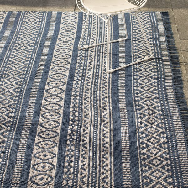 Bruges Hand-Loomed Blue Area Rug by Mistana